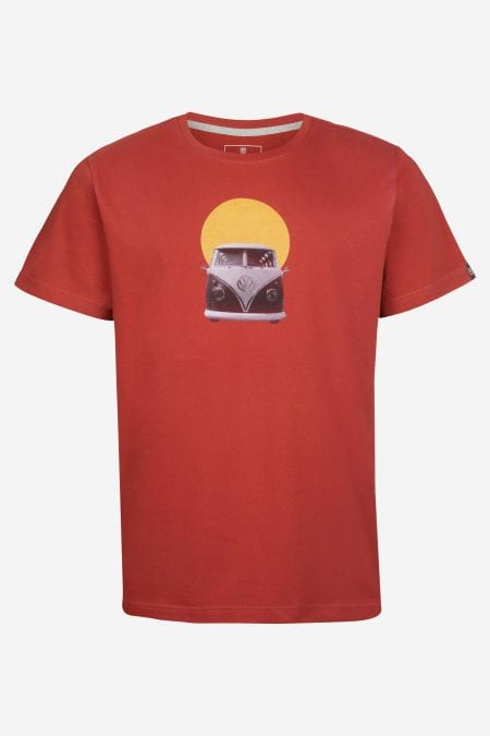 Herren T-Shirt No Rules in Rot von Elkline