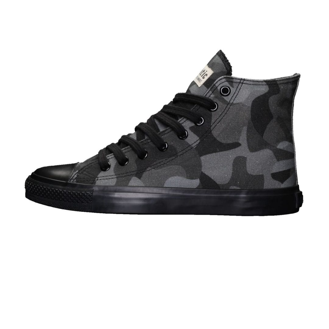 Fair Trainer Black Cap Hi Cut Human Rights Black Jet Black von Ethletic