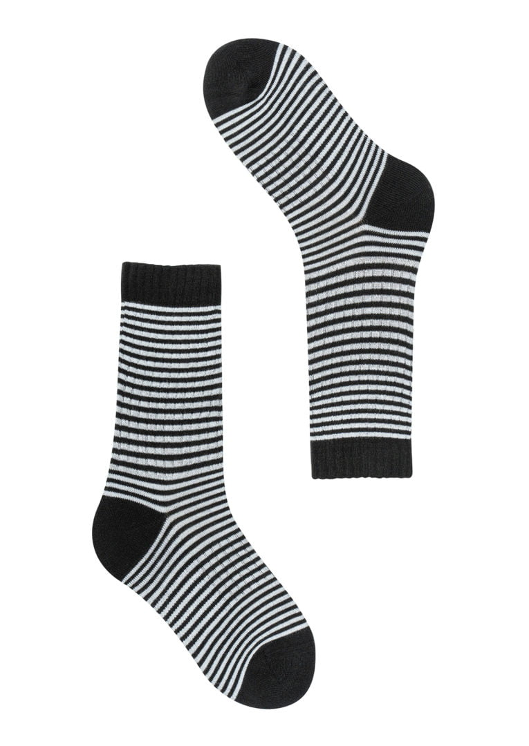 Classic Socks #STRIPES Black / White von Recolution